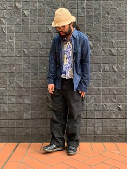大阪店のUenoさんのLeeのワークシャツ 長袖を使ったコーディネート