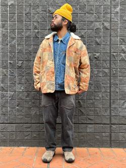 大阪店のUenoさんのLeeの【Winter sale】パッチワーク ボアジャケットを使ったコーディネート