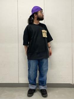 大阪店の上野さんのLeeのジェットキャップ/帽子を使ったコーディネート