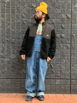 大阪店のUenoさんのLeeの【感謝祭15%OFFクーポン対象】【ユニセックス】フリースジップアップジャケットを使ったコーディネート