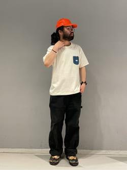 大阪店の上野さんのLeeの【TOPS 15%OFFクーポン対象】【SALE】デニムポケット半袖Tシャツを使ったコーディネート