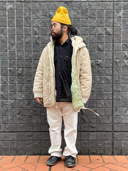 大阪店のUenoさんのLeeの【再値下げ Winter sale】【ユニセックス】ビッグフィット ワークシャツ(コーデュロイ)を使ったコーディネート