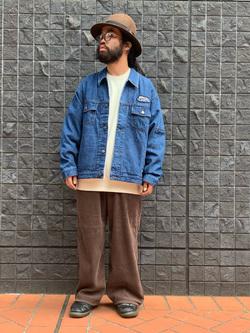 大阪店のUenoさんのLeeのLEE PIPES ビッグフィット バギージャケットを使ったコーディネート