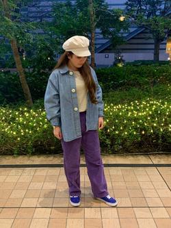 Lee 武蔵小杉店のMiharuさんのLeeの【ガレージセール】BUDDY LEE ワークシャツ【ユニセックス】を使ったコーディネート