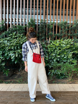 Lee 武蔵小杉店のMiharuさんのLeeのURBAN DUNGAREES サロペットを使ったコーディネート