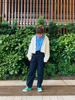 Lee 武蔵小杉店のMiharuさんのLeeの【セットアップ対応】STANDARD WARDROBE COWGIRL ジャケット(コーデュロイ)を使ったコーディネート