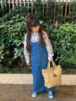 Lee 武蔵小杉店のMiharuさんのLeeの終了【WINTER SALE】ワークシャツ 長袖を使ったコーディネート