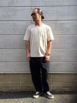 TOKYO HARAJUKU店のKEITAROさんのEDWINの【コンセプトショップ限定】EDWIN EUROPE SOUVENIR FROM JAPAN 2 TEEを使ったコーディネート