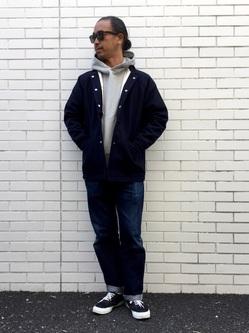TOKYO HARAJUKU店のKEITAROさんのEDWINの【コンセプトショップ限定】EDWIN×SUNNY SPORTS PHARAOH COATを使ったコーディネート