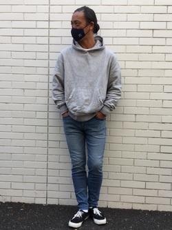 TOKYO HARAJUKU店のKEITAROさんのEDWINのジャージーズ スキニー【スタンダードモデル】を使ったコーディネート