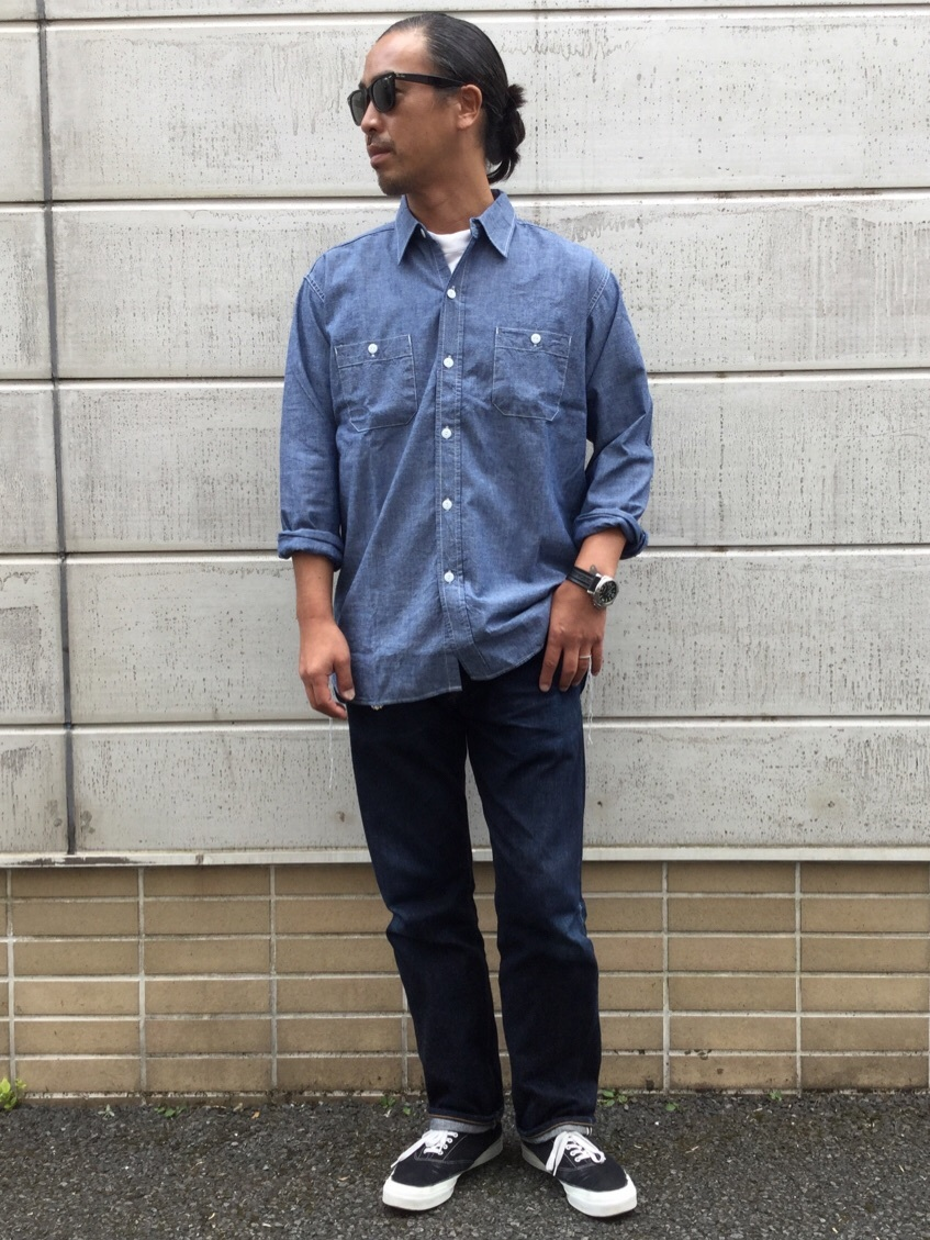 TOKYO HARAJUKU店のKEITAROさんのEDWINの【コンセプトショップ限定】WORK SHIRTSを使ったコーディネート