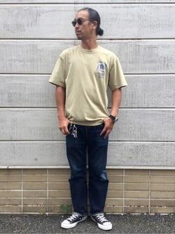 TOKYO HARAJUKU店のKEITAROさんのEDWINの【SALE】【コンセプトショップ限定】EDWIN EUROPE TERRIBLE SIGHT TEEを使ったコーディネート