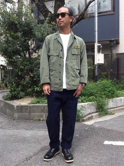 TOKYO HARAJUKU店のKEITAROさんのEDWINの【コンセプトショップ限定】INDIGO GARMENTS HUNTING  PANTSを使ったコーディネート