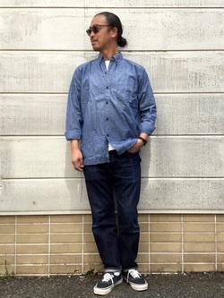 TOKYO HARAJUKU店のKEITAROさんのEDWINの【コンセプトショップ限定】B.D SHIRTSを使ったコーディネート