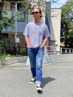 TOKYO HARAJUKU店のKEITAROさんのEDWINの【SALE】【コンセプトショップ限定】BORDER TEEを使ったコーディネート