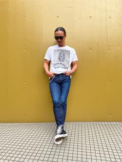 TOKYO HARAJUKU店のKEITAROさんのEDWINの【コンセプトショップ限定】SLIM TAPERED 【レングス76.5cm】を使ったコーディネート