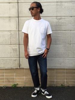 TOKYO HARAJUKU店のKEITAROさんのEDWINの【コンセプトショップ限定】REGULER STRAIGHT 【レングス71cm】を使ったコーディネート