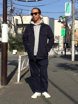 TOKYO HARAJUKU店のKEITAROさんのEDWINの【コンセプトショップ限定】INDIGO GARMENTS FATIGUE JACKETを使ったコーディネート