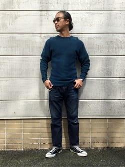TOKYO HARAJUKU店のKEITAROさんのEDWINの【コンセプトショップ限定】THERMAL TEEを使ったコーディネート