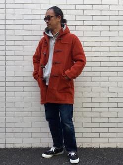 TOKYO HARAJUKU店のKEITAROさんのEDWINの【コンセプトショップ限定】DUFFEL COATを使ったコーディネート