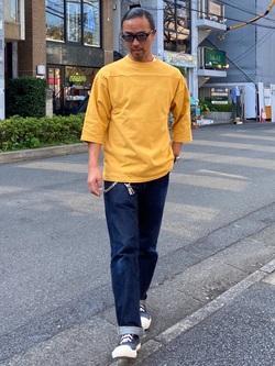TOKYO HARAJUKU店のKEITAROさんのEDWINの【コンセプトショップ限定】FOOTBALL TEEを使ったコーディネート