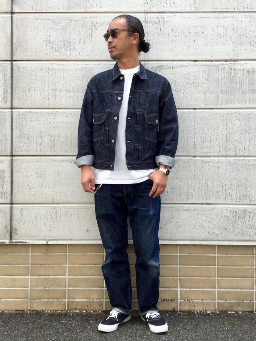 TOKYO HARAJUKU店のKEITAROさんのEDWINの【コンセプトショップ限定】DENIM JACKETを使ったコーディネート