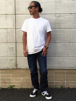 TOKYO HARAJUKU店のKEITAROさんのEDWINの【コンセプトショップ限定】REGULER STRAIGHT 【レングス81.5cm】を使ったコーディネート
