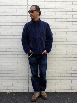 TOKYO HARAJUKU店のKEITAROさんのEDWINの【Winter sale】【コンセプトショップ限定】F.L.E NAVY PACK  LEVEL3 FLEECE JACKETを使ったコーディネート
