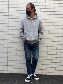 TOKYO HARAJUKU店のKEITAROさんのEDWINのジャージーズ ルーズテーパード【プレミアムモデル】を使ったコーディネート