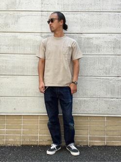 TOKYO HARAJUKU店のKEITAROさんのEDWINの【コンセプトショップ限定】GARMENT DYE TEEを使ったコーディネート