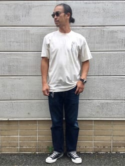 TOKYO HARAJUKU店のKEITAROさんのEDWINの【SALE】【コンセプトショップ限定】EDWIN EUROPE UPCOMING PROPHECY TEEを使ったコーディネート