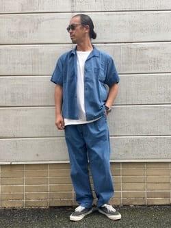 TOKYO HARAJUKU店のKEITAROさんのEDWINの【コンセプトショップ限定】INDIGO GARMENTS シアサッカーパンツを使ったコーディネート