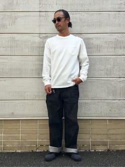 TOKYO HARAJUKU店のKEITAROさんのEDWINの【コンセプトショップ限定】EDWIN MINAMIHORIE 2周年限定モデル OSAKA LOGGERを使ったコーディネート