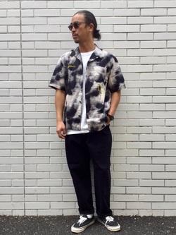 TOKYO HARAJUKU店のKEITAROさんのEDWINの【コンセプトショップ限定】EDWIN EUROPE PHOTO COPY SHIRTを使ったコーディネート