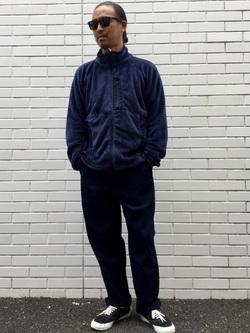 TOKYO HARAJUKU店のKEITAROさんのEDWINの【コンセプトショップ限定】INDIGO GARMENTS FATIGUE PANTSを使ったコーディネート