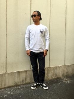 TOKYO HARAJUKU店のKEITAROさんのEDWINの【コンセプトショップ限定】EDWIN EUROPE SHINOBI TEEを使ったコーディネート
