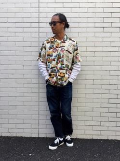 TOKYO HARAJUKU店のKEITAROさんのEDWINの【コンセプトショップ限定】EDWIN x reyn spooner VINTAGE RAYON SHIRTSを使ったコーディネート