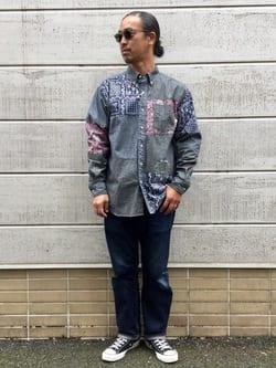 TOKYO HARAJUKU店のKEITAROさんのEDWINの【コンセプトショップ限定】EDWIN x reyn spooner SWITCH PATTERN SHIRTSを使ったコーディネート