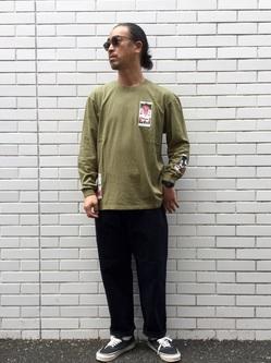 TOKYO HARAJUKU店のKEITAROさんのEDWINの【コンセプトショップ限定】EDWIN EUROPE TAROT DECK 2 TEEを使ったコーディネート