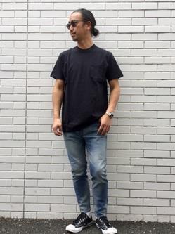 TOKYO HARAJUKU店のKEITAROさんのEDWINの【コンセプトショップ限定】POCKET TEEを使ったコーディネート
