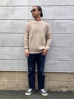 TOKYO HARAJUKU店のKEITAROさんのEDWINの【デニム15%OFFクーポン対象】【コンセプトショップ限定】REGULAR STRAIGHT KIBATA ボタンフライ 【レングス81.5cm】を使ったコーディネート