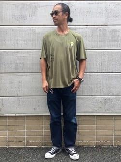 TOKYO HARAJUKU店のKEITAROさんのEDWINの【SALE】【コンセプトショップ限定】EDWIN EUROPE AUTONOMOUS TEEを使ったコーディネート