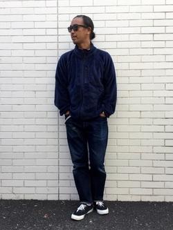 TOKYO HARAJUKU店のKEITAROさんのEDWINの【ガレージセール】【コンセプトショップ限定】F.L.E NAVY PACK  LEVEL3 FLEECE JACKETを使ったコーディネート