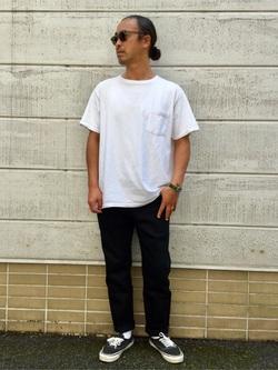 TOKYO HARAJUKU店のKEITAROさんのEDWINの【コンセプトショップ限定】SLIM TAPERED ボタンフライ 【レングス71.5cm】を使ったコーディネート