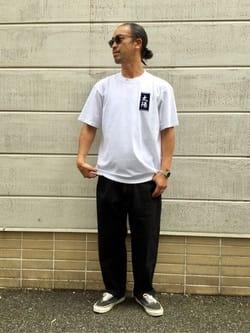 TOKYO HARAJUKU店のKEITAROさんのEDWINの【コンセプトショップ限定】EDWIN EUROPE TAROT DECK 1 TEEを使ったコーディネート