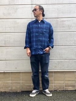 TOKYO HARAJUKU店のKEITAROさんのEDWINの【コンセプトショップ限定】INDIGO GARMENTS CHECK FLANNEL SHIRTSを使ったコーディネート