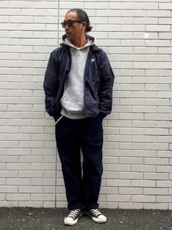 TOKYO HARAJUKU店のKEITAROさんのEDWINの【Winter sale】【コンセプトショップ限定】F.L.E NAVY PACK  LEVEL4 LIGHT JACKETを使ったコーディネート