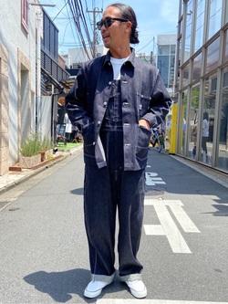 TOKYO HARAJUKU店のKEITAROさんのEDWINの【コンセプトショップ限定】COVERALLを使ったコーディネート