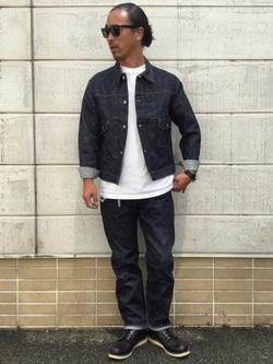 TOKYO HARAJUKU店のKEITAROさんのEDWINの【コンセプトショップ限定】REGULER TAPERED 【レングス82cm】を使ったコーディネート