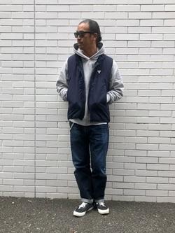 TOKYO HARAJUKU店のKEITAROさんのEDWINの【コンセプトショップ限定】F.L.E NAVY PACK  LEVEL7 VESTを使ったコーディネート